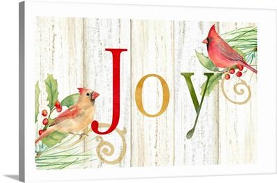Joy Whitewash Wood sign