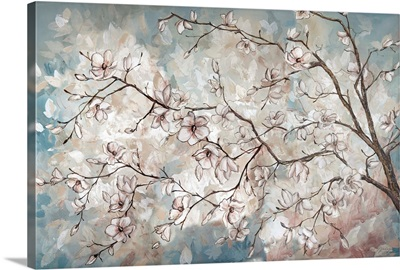 Magnolia Branches on Blue