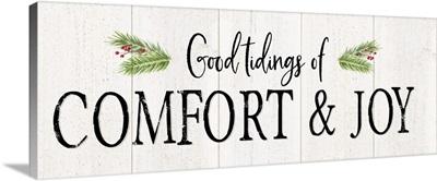 Peaceful Christmas - Comfort and Joy horiz black text