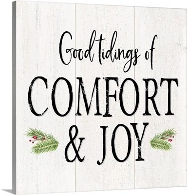 Peaceful Christmas II Comfort and Joy black text