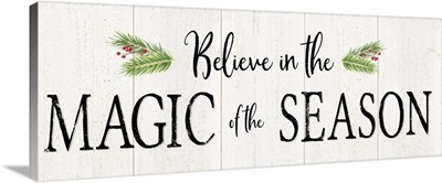 Peaceful Christmas - Magic of the Season horiz black text