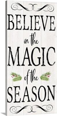Peaceful Christmas - Magic of the Season vert black text
