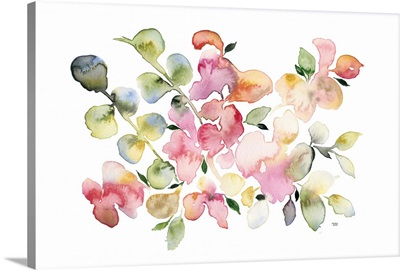 Shades of Pink Watercolor Floral