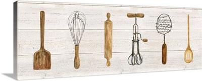 Vintage Kitchen Utensils Panel