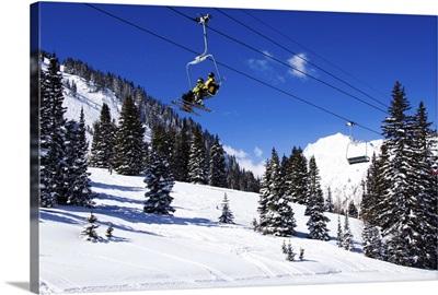A chair lift, Alta Ski Resort, Salt Lake City, Utah