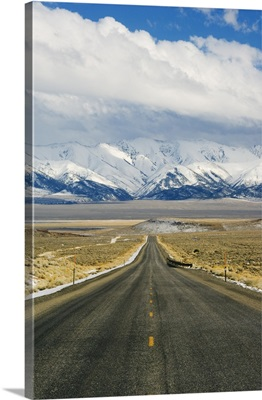 A never ending straight road on US Route 50, the loneliest road in America, Nevada