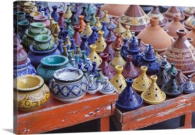 A street seller's wares, Marrakesh, Morocco, Africa