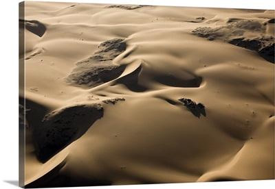 Aerial of sand dunes, Skeleton Coast Park, Namibia