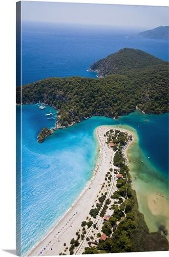 Aerial View Of Blue Lagoon And Belcekiz Beach Oludeniz Anatolia Turkey Minor