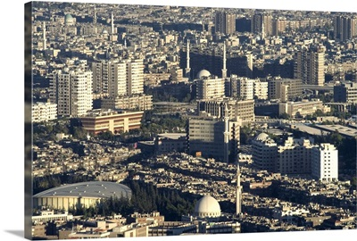 Aerial view of city, Damascus, Syria