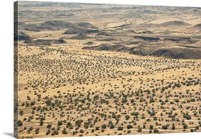 Aerial view of Damaraland, Kaokoland Wilderness in NW region, Namibia, Africa