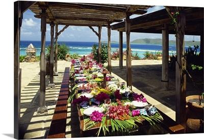 Al fresco dining, Bermuda, Atlantic Ocean, Central America