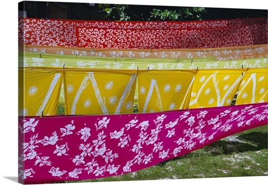 Androsia Batik, Andros, Bahamas Wall Art, Canvas Prints, Framed ...