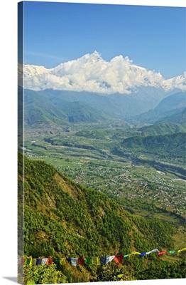 Annapurna Himal and Machapuchare seen from Sarangkot, Nepal, Himalayas