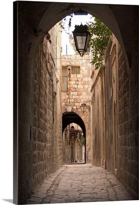 Arched streets of old town Al-Jdeida, Aleppo (Haleb), Syria