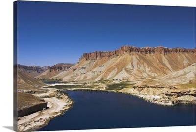 Band-I-Zulfiqar the main lake, Band-E- Amir crater lakes, Afghanistan