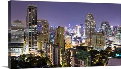 Bangkok at night from Rembrandt Hotel and Towers, Bangkok, Thailand