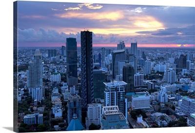Bangkok at sunset, Bangkok, Thailand