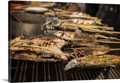 BBQ Stalls at Crab Market, Kep, Kep Province, Cambodia