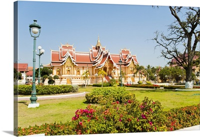 Beautifully decorated building at Pha That Luang, Vientiane, Laos, Indochina