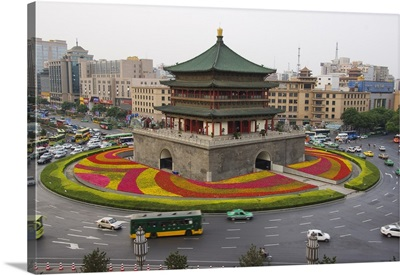 Bell Tower, Xian City, Shaanxi Province, China
