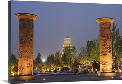 Big Goose Pagoda Park, Tang Dynasty, Xian City, Shaanxi Province, China