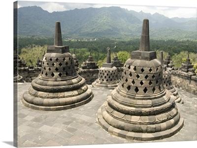 Borobodur Buddhist temple, Java, Indonesia