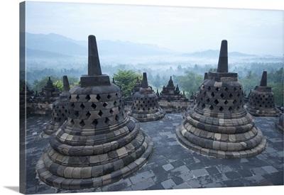 Borobudur Buddhist Temple, Java, Indonesia, Southeast Asia