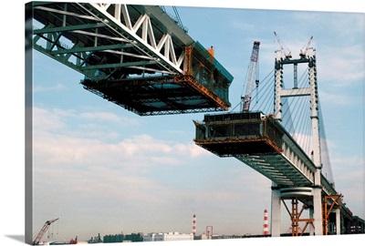 Bridge under construction, Japan, Asia