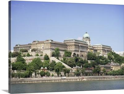 Buda palace, now houses and museums, Budapest, Hungary