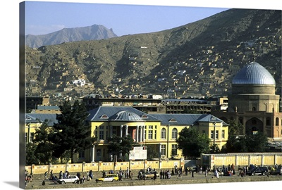 Buildings on the banks of the Kabul River, central Kabul, Kabul, Afghanistan