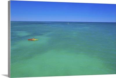 Canoeist, Glenelg, Adelaide, South Australia, Australia, Pacific