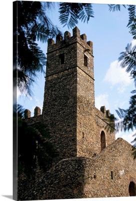 Chancellery, 17th century castle, Gondar, Ethiopia, Africa