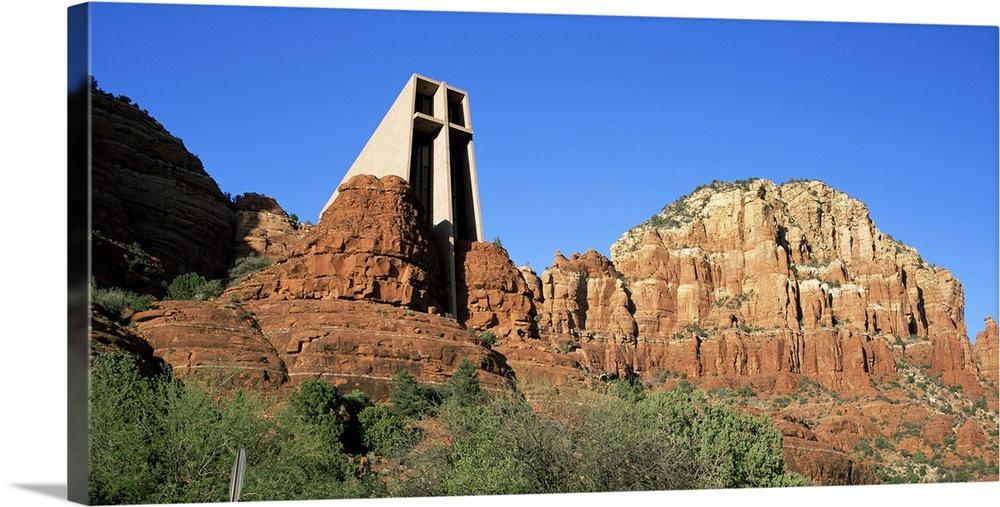 Chapel Of The Holy Cross, Sunset, Sedona, Arizona