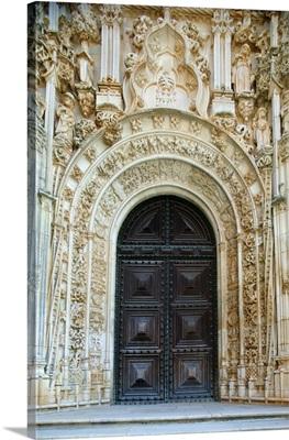 Christ's convent gate, Tomar, Estremadura, Portugal