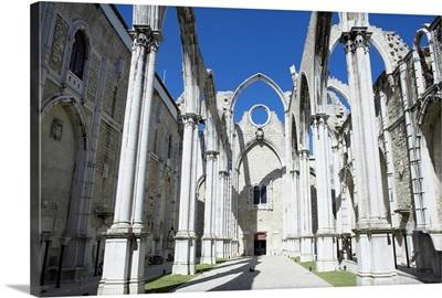 Church do Carmo ruins Lisbon, Portugal