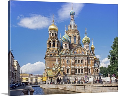 Church on Spilled Blood, St. Petersburg, Russia, Europe