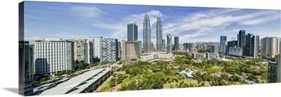 City centre and Petronas Towers, Kuala Lumpur, Malaysia