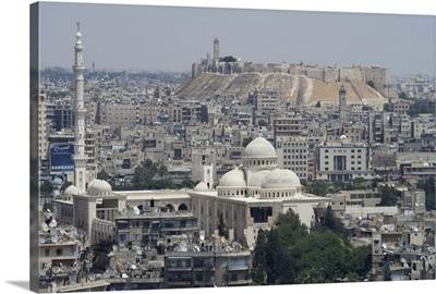 City mosque and the Citadel, Aleppo, Syria