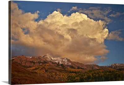 Cloud over the Sneffels Range in the fall, Uncompahgre National Forest, Colorado