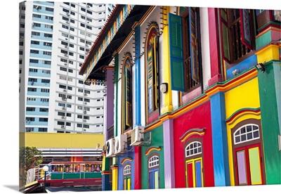 Colourful Heritage Villa, the residence of Tan Teng Niah, Little India, Singapore