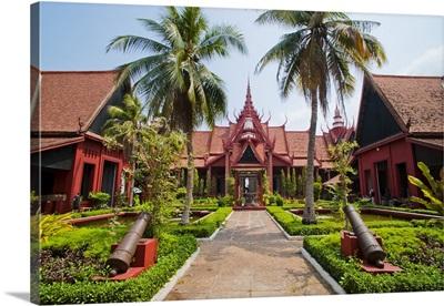 Courtyard inside the National Museum of Cambodia, Phnom Penh, Cambodia, Indochina