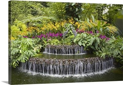 Crane sculptures, National Orchid Garden in Botanic Gardens, Singapore