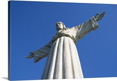 Cristo Rei (standing Christ) statue, in Cacilhas suburb, Lisbon, Portugal,