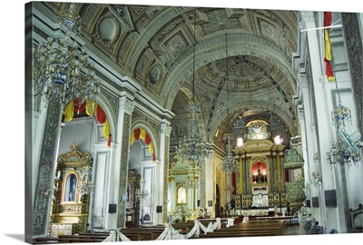 Decorated interior, San Agustin church and museum, Manila, Philippines