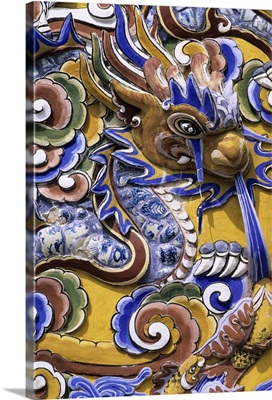 Detail from Chinese gateway inside the Imperial city, The Citadel, Hue, Vietnam
