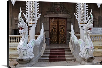 Detail of Buddhist temple, Lampang, Thailand, Southeast Asia, Asia