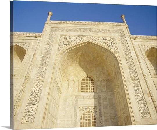 Detail of the Taj Mahal, Agra, Uttar Pradesh State, India Wall Art ...
