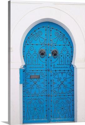 Door, Sidi Bou Said, near Tunis, Tunisia, Africa