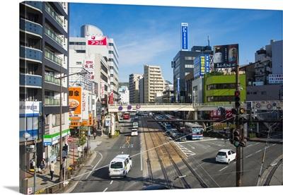 Downtown Nagasaki, Kyushu, Japan